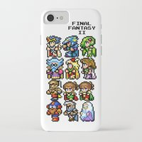 final fantasy iPhone & iPod Cases featuring Final Fantasy II Characters by Nerd Stuff