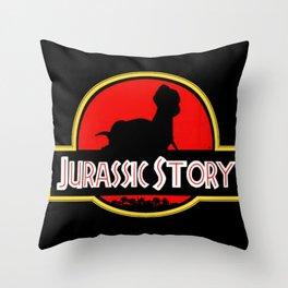 Jurassic Story Throw Pillow