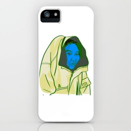 Blue Face iPhone Case