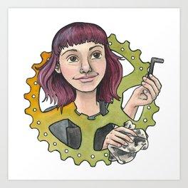 Bike Mechanic Art Print