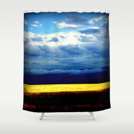 Golden Wheat Fields Shower Curtain