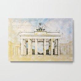 Brandenburg Gate, Berlin Germany Metal Print