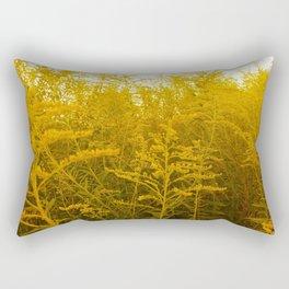 Gold Goldenrod Rectangular Pillow