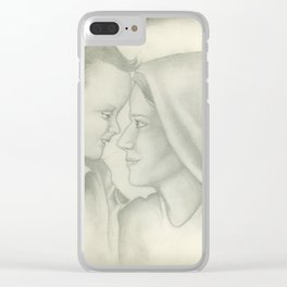 Child Jesus and Mary Clear iPhone Case