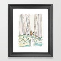 She Fell Into the Ocean Framed Art Print