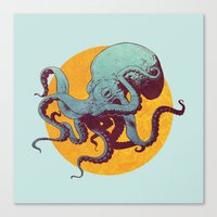 octopus Canvas Prints featuring Octopus by Eric Persson