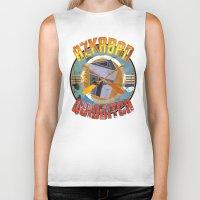 quidditch Biker Tanks featuring AZKABAN QUIDDITCH TEAM VINTAGE by karmadesigner