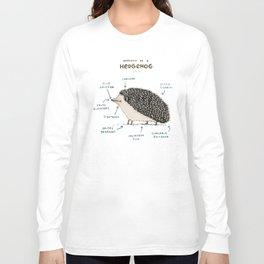 Anatomy of a Hedgehog Long Sleeve T-shirt