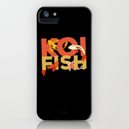 Koi Fish Fish Zen Garden iPhone Case
