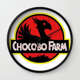 Chocobo Farm Wall Clock