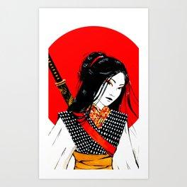 Samurai Girl Art Print