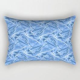 White Doves Abstract Rectangular Pillow