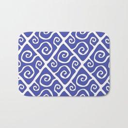 Diamond Pattern Blue Bath Mat