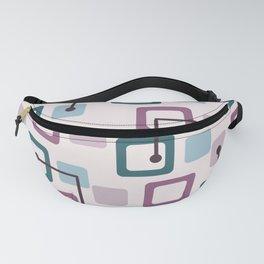Vintage 1950s Tiles & Squares (Lavender) Fanny Pack