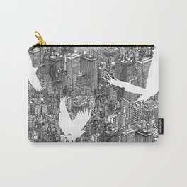 Ecotone (black & white) Carry-All Pouch