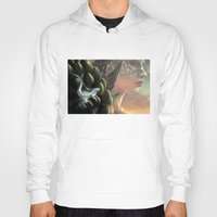 dragons Hoodies featuring Dragons by Nell Fallcard