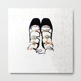 COCO GLAMOUR AND VINTAGE BALLERINA SHOES Metal Print