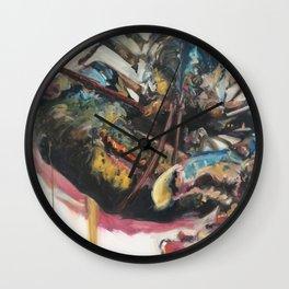 Drippy Yellow Lobster Wall Clock
