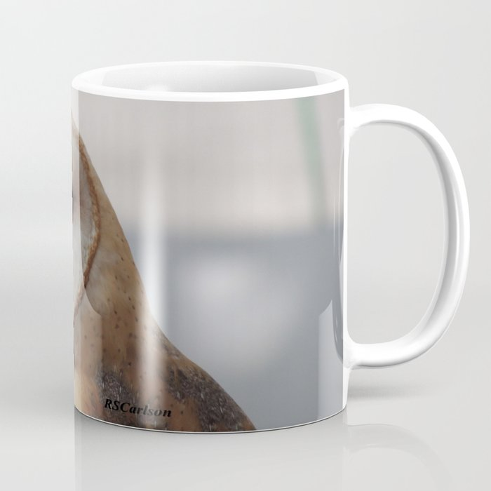 Barn Owl on Alert Coffee Mug by rscarlson | Society6
