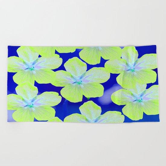 Retro Flowers II Beach Towel