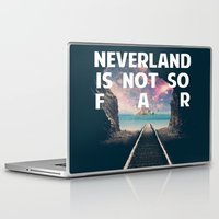 neverland Laptop & iPad Skins featuring Take Me To Neverland by Christa Morgan ☽