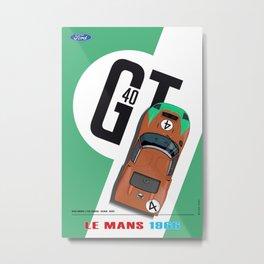 GT40 Mark Donohue, Le Mans 1966 Metal Print
