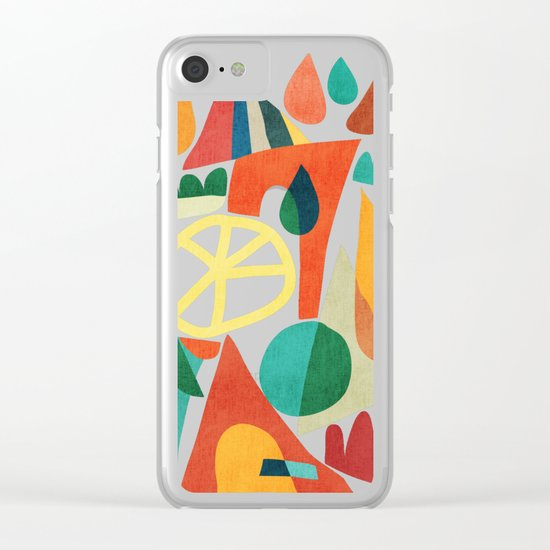 Summer Fun House Clear iPhone Case