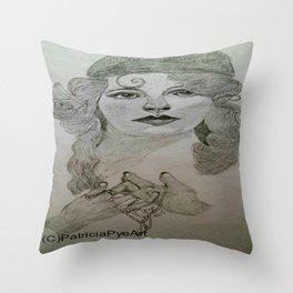 Myrna Darby - 1920s  Throw Pillow