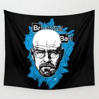 heisenberg Wall Tapestries featuring Heisenberg by luis pippi