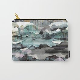 Painted abstract mountain landscape Carry-All Pouch