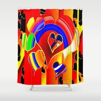 valentine Shower Curtains featuring Valentine  by JT Digital Art