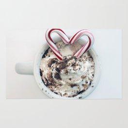 i heart hot chocolate Rug
