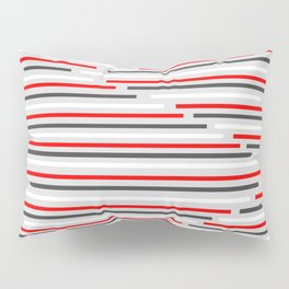 Mixed Signals Abstract - Red, Gray, Black, White Pillow Sham