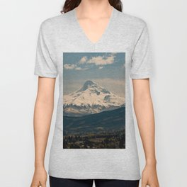 Mountain Valley Pacific Northwest - Nature Photography Unisex V-Neck