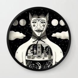 Under Skin Wall Clock