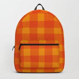 Pumpkin Pop Plaid Backpack