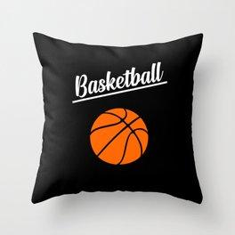 basketball sports design Throw Pillow