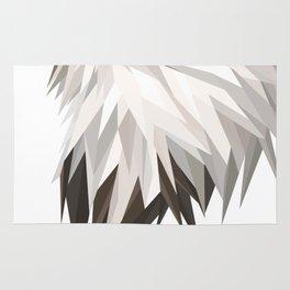 Triangular Geometric American Bald Eagle Head Rug