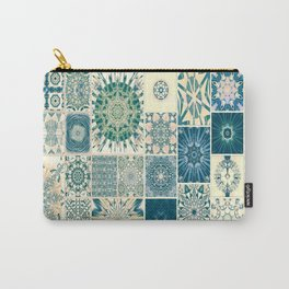 Spring pale Oriental rug Carry-All Pouch