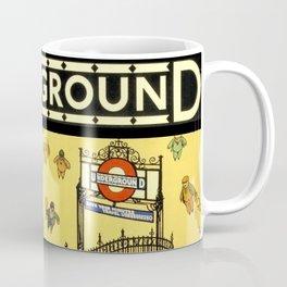 Vintage Lure of the London Underground Subway Travel Advertisement Poster Coffee Mug