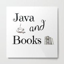 Java & Books Metal Print