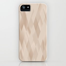 Beige Harlequin iPhone Case