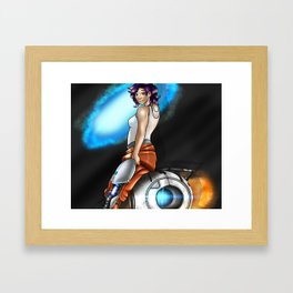 Myself in the world of portal Framed Art Print