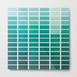 Jade Green Palette Pattern for St Patrick's Day Celebration Metal Print
