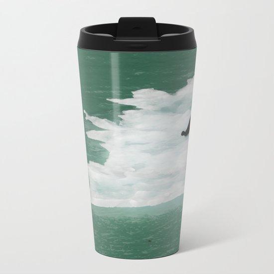 Seals on an Iceberg Metal Travel Mug