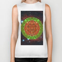 Aztec of nebula Biker Tank
