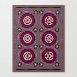 Central Asian Pattern Canvas Print