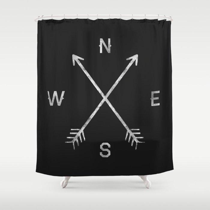 Compass Shower Curtain By Zachterrell