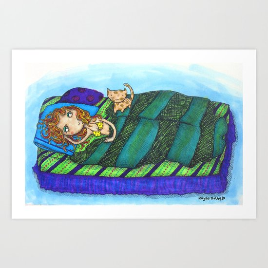 Sleeping In... Art Print