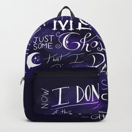 I Don't Know Backpack